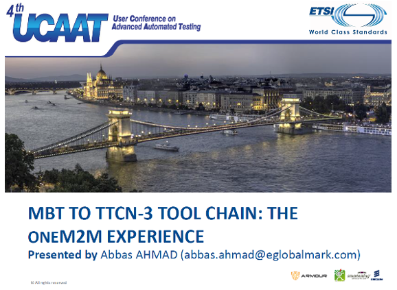 MBT to TTCN-3 tool chain: The oneM2M experience