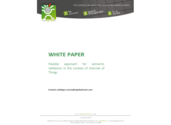 White Paper on flexible approach for semantic validation in the context of Internet of Things