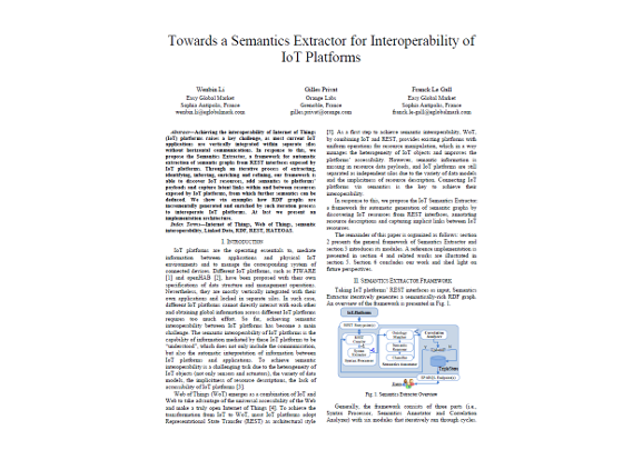 Towards a Semantic Extractor for Interoperability of IoT platforms