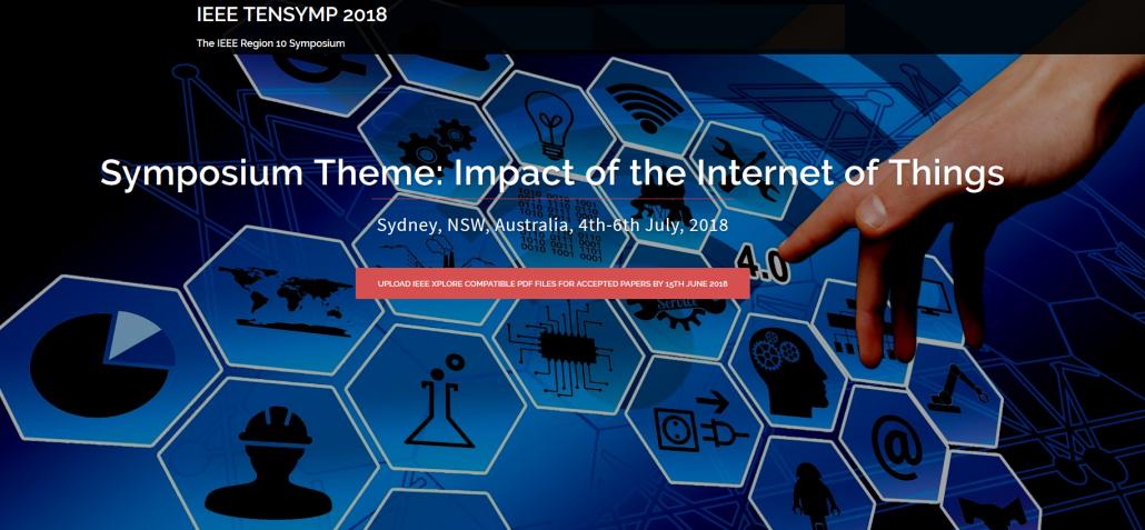 Recognized IoT scientific publication during IEEE TENSYMP 2018